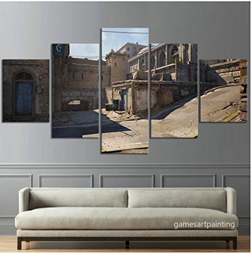 GYJCD Klassische Karte Wüste CSGO Spiel Poster Artwork Leinwandbilder HD Wandbild für Wohnzimmer Dekor yk40x60x2 40x80x2 40x100cm