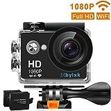 Mbylxk Action Cam 1080P HD 12 MP 170°Ultra-Weitwinkel, WiFi 2,0 Zoll, Wasserdicht mit kostenlosem...