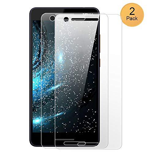 XCYYOO [2 Pacco] Pellicola Vetro Temperato Nokia 2.1 [Copertura Completa], 9H Durezza Ultra Resistente Protettiva Proteggi Schermo per Nokia 2.1 (0.33mm HD Alta Trasparente)