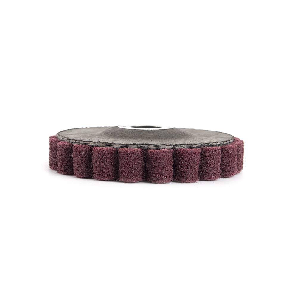 10Pcs 4 Inch Nylon Fiber Polishing Flap Wheel Disc Buffing Pad for Stainless Steel and Other Metals Mirror Polishing 180 Grit
