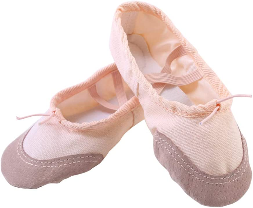 Acqrobe Girls Canvas Ballet Dance Shoes Split Sole Gymnastics Dancing Slippers