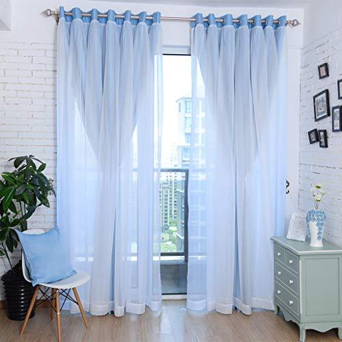 cortinas habitacion doble capa