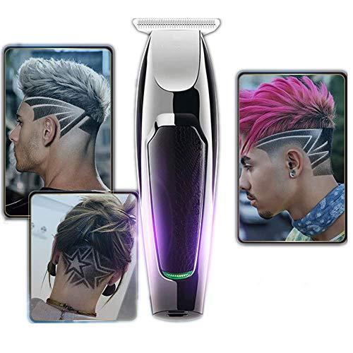 Snoerloze elektrische baard, haar- en lichaamstrimmer voor mannen, jongens voor kinderen, tondeuse, USB, oplaadbaar, geen geluid met 5-limietkam, herenlichaamtrimmer, waterdicht