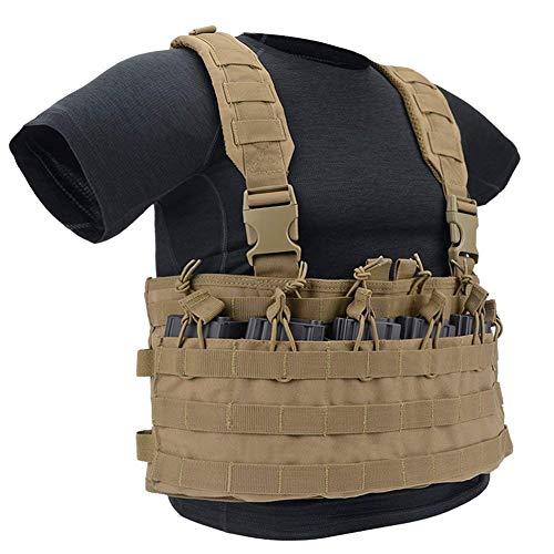 GLORYFIRE Tactical Vest Modular Assault Vest Law Enforcement Vest Breathable Combat Training Vest Adjustable Lightweight (S-T)