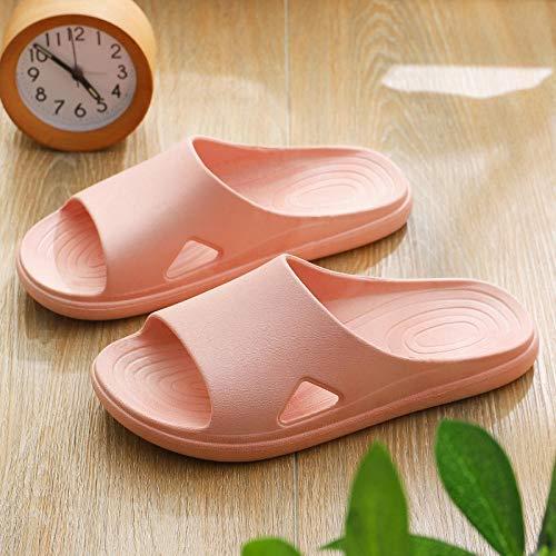 YYFF Zapatillas de Estar por Casa,Round Pattern Soft Bottom Slippers,Home Bath Sandals-c Powder_36-37,Sandalia Mujer