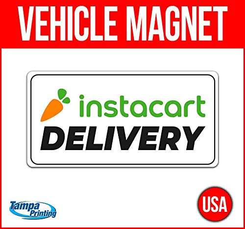 Instacart Delivery Vehicle Magnet, 30 mil Thick Magnetic Vinyl, Rounded Corners, Advertising Magnet, Removable, Car Magnet, Truck Magnet, Fleet Magnet, Flexible, New, Advertising, USA