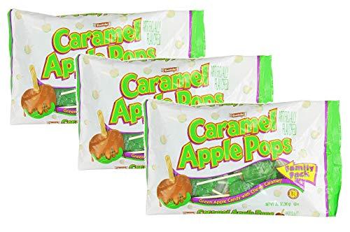 Tootsie Caramel Apple Pops Lollipop Suckers Family Pack 127 Oz Each Pack of 3