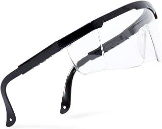 Veiligheidsbril voor kinderen en volwassenen, werkbril, transparant, zijbescherming voor brildragers, robuust, uittrekbare...