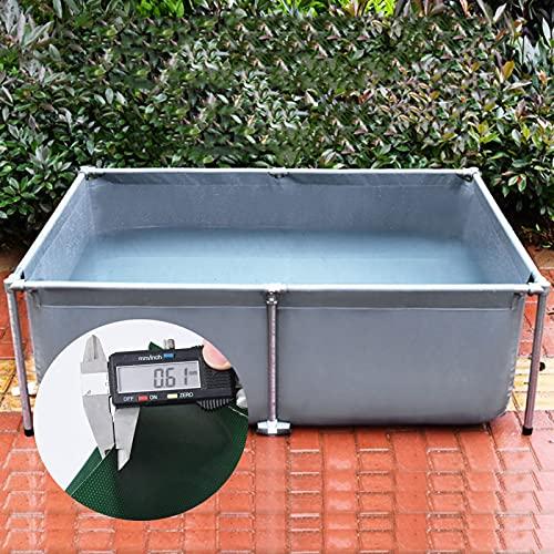XYUfly20 Leinwandrahmen Fischteich Schwimmbad Mit Doppelseitiger Beschichtung Aus PVC Kann Für Wasserspeicher, Fischzucht, Garnelenzucht, Hydrokulturpflanzen Verwendet
