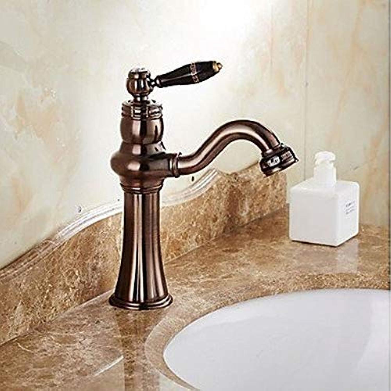 PEG Centerset Clawfoot Keramikventil Einhand-Einloch-Bronze, Bad Waschbecken Wasserhahn,A,Einheitsgre