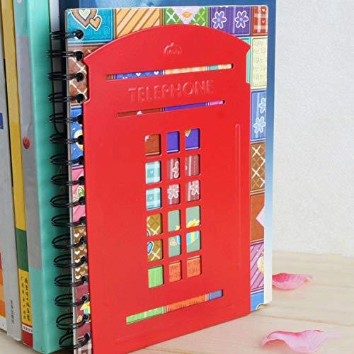 VOSAREA 2pz Sujetalibros, Retro teléfono Cabina sujetalibros Metal sujetalibros Libro Final Libro Estante Londres teléfono Cabina decoración