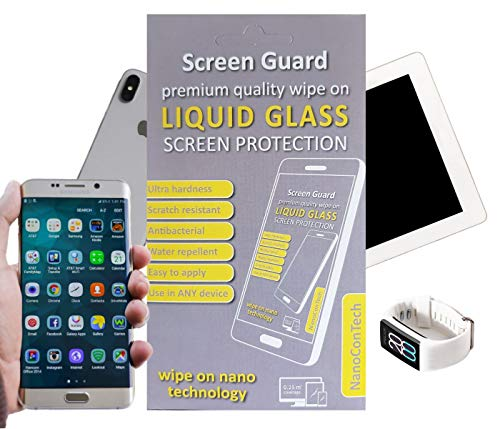 NanoCon Tech Screen Guard Liquid Glass Screen Protector - Nano Technology 9H Hardheid - Anti Scratch Duurzame Bescherming - Anti Bacterial - Ideaal voor Smartphones Tablets Monitors Smart Watches