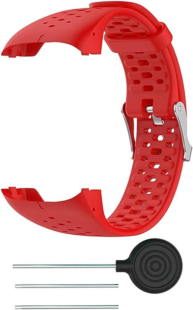 KINOEHOO Correas para relojes Compatible con Polar M400 M430 Pulseras de repuesto.Correa de Reloj.