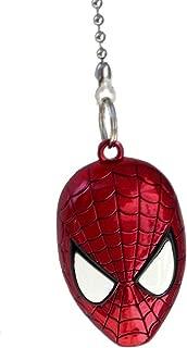 DC & Marvel comics SUPER HERO superhero character PEWTER Ceiling FAN PULL light chain (Spiderman Mask - red)