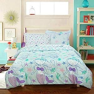 51IGdTQGMpL._SS300_ Mermaid Bedding Sets & Comforter Sets