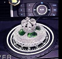 車の飾りクリスタルダイヤモンドクラウン形の芳香剤ダッシュボード装飾車の香水ディフューザーオートインテリアアクセサリー (Color : White)