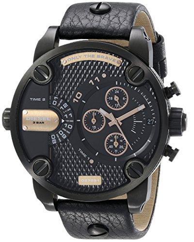 Diesel Herren Chronograph Quarz Uhr mit Leder Armband DZ7291