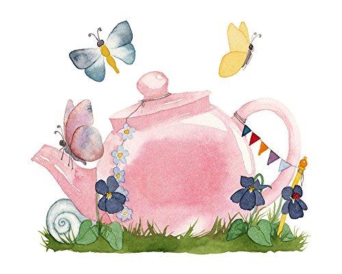 TinyFoxes Wandtattoo Teekanne für die Feentür im Kinderzimmer