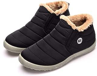 Men's Warm Retro Winter Plus Velvet High-Top Lazy Slip-On Cotton Shoes Outdoor Sports Waterproof Snow Cotton Shoes