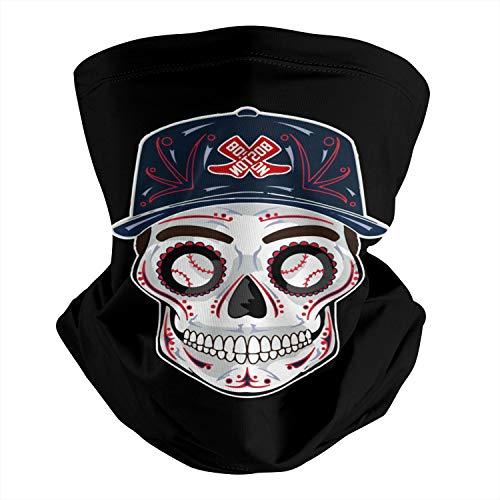 Unisex Boston Baseball Skull Red_sox Art Breathable Neck Gaiter Face Mask for Headwear, Bandana, Balaclava Scarf
