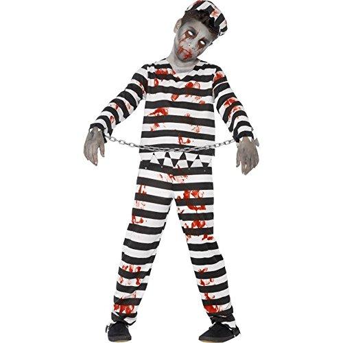 Halloween Horror Kinder Kostüm Zombie Sträfling Gr.4 bis 6 Jahre