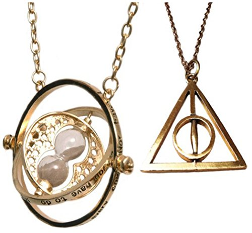 FLORAY Harry Potter inspirierte collana, tempo umkehrer di Hermine Granger. e base metal, colore: Gold Gruppe, cod. HP-001-TM-GOLD SET BOX