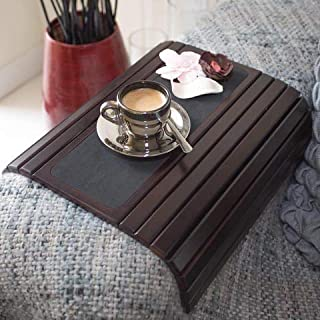 Couch arm Table Sofa Arm Tray. Flexible/Foldable Coaster Couch Tray. Perfect for Drinks, Snack, Remote or Phone. Tv Tray f...