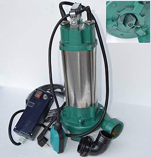 Fäkalienpumpe Tauchpumpe Schmutzwasserpumpe IBO2200, 2200Watt Spannung: 230V/50Hz Fördermenge: 24000l/h / 400l/min. mit Cutter zum zerkleinern organischer Festststoffe mit Überspannungsschutz + Abschaltautomatik die die Pumpe vor Schäden schützt.