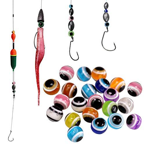 pesca perline, fish eye Carolina Rig tasse Rigs fai da te Kit Bass da pesca Tackle ( 200PCS/bag 0.24in 0.3in 0.39in ), mix color-0.39in