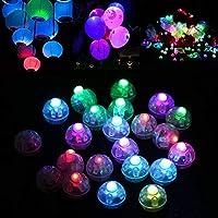 ZWEI BELEUCHTUNGSMODI: Das farbige LED-Ballonlicht ist ein Blinklichtmodus und das monochrome Ballonlicht ist ein Konstantlichtmodus. Sie können Ihre Party mehr Karneval machen. KARNEVAL-DEKORATIONEN: einzigartiges weißes Licht, buntes Licht und blau...