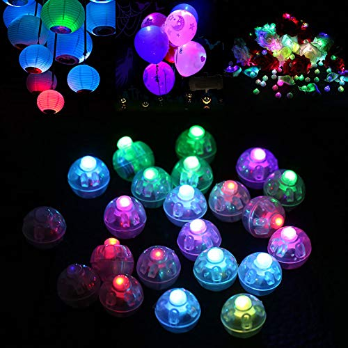 Dsaren LED Palloncini Luci, 30pz Mini Luci Lanterne di Carta Flash Luminosa per Festa di Compleanno di Nozze Decorazioni di Natale (Colorato)