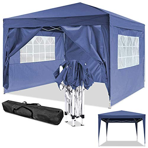 Jackbobo - Tienda de campaña para jardín (3 x 3 x 6 m, Resistente al Agua, Tienda de campaña de jardín, Plegable, Festival, 3x3m_Bleu