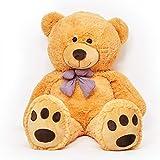Lumaland géant Ours en Peluche Grand Doudou Teddy Doux 120 cm Marron Claire
