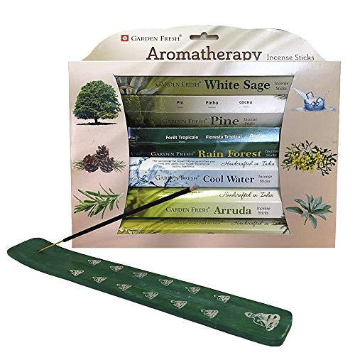 INCENSE STICKS VARIETY PACK – HOME FRAGRANCE INDIAN INCENSE STICKS – 120-PIECES PER SET – INCLUDES INCENSE STICK HOLDER – ECO-FRIENDLY & BIODEGRADABLE PACKAGING – YOGA & MEDITATION (AROMATHERAPY)