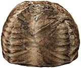Heavy Metal Inc Meridian Bean Bag Plush Faux Fur Chair | Comfortable and Fun Beanbag for The Whole Family| Non-Spill Memory Foam Filling (Ash White)