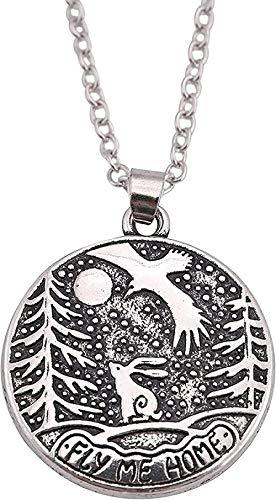 NC110 Llévame a casa con el Collar Colgante de la Letra del símbolo del águila del Conejo un Regalo romántico para Las Personas