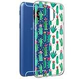Funda Samsung Galaxy A6 2018, Eouine Cárcasa Silicona 3D Transparente con Dibujos Diseño Suave Gel TPU [Antigolpes] de Protector Bumper Case Cover Fundas para Movil Samsung Galaxy A6 2018 (Cactus)