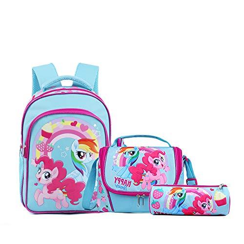 SEDEX Unicorn Rugzak voor Kinderen Waterbestendig Premium Kleuter Peuter Rainbow Unicorn Backpack Tas voor School Werk Reizen Animal Kinderrugzak en Etui Lunchtas Meisjes Schoolspullen