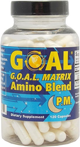 GOAL Matrix Amino Acid Blend PM - Turn Back Time with This Anti Aging Lean Muscle Growth Booster and Fat Burner Breakthrough - Top Doctors Approve This Hormone Enhancer Formula for Men and Women