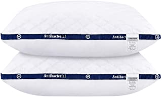 HOMEIDEAS Luxury Plush Gel Fiber Pillows, 100% Cotton Hotel Down-Alternative Pillows, Good for Side and Back Sleeper (1 Pa...