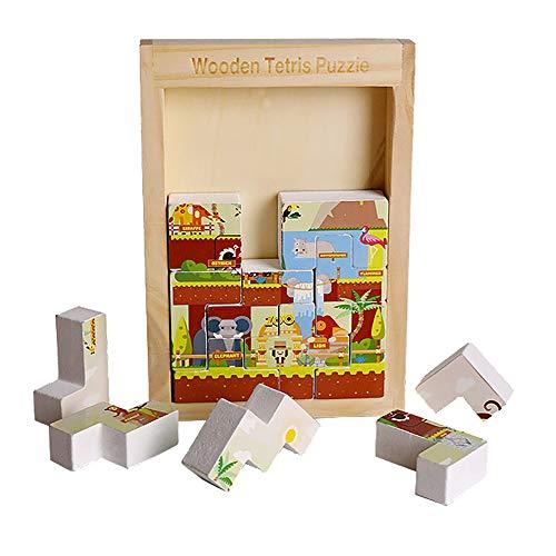 JW-YZWJ Tetris Construction Jigsaw Blocs, 1-2-3-6 Ans intellectuelle des Enfants pour Le développement de la Petite enfance Jouets Education,C