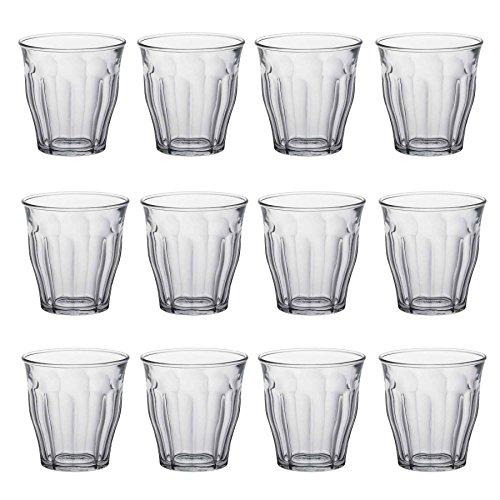 Duralex Picardie - Trinkgläser - geeignet als Saft- oder Wassergläser - 130 ml - 12 Stück