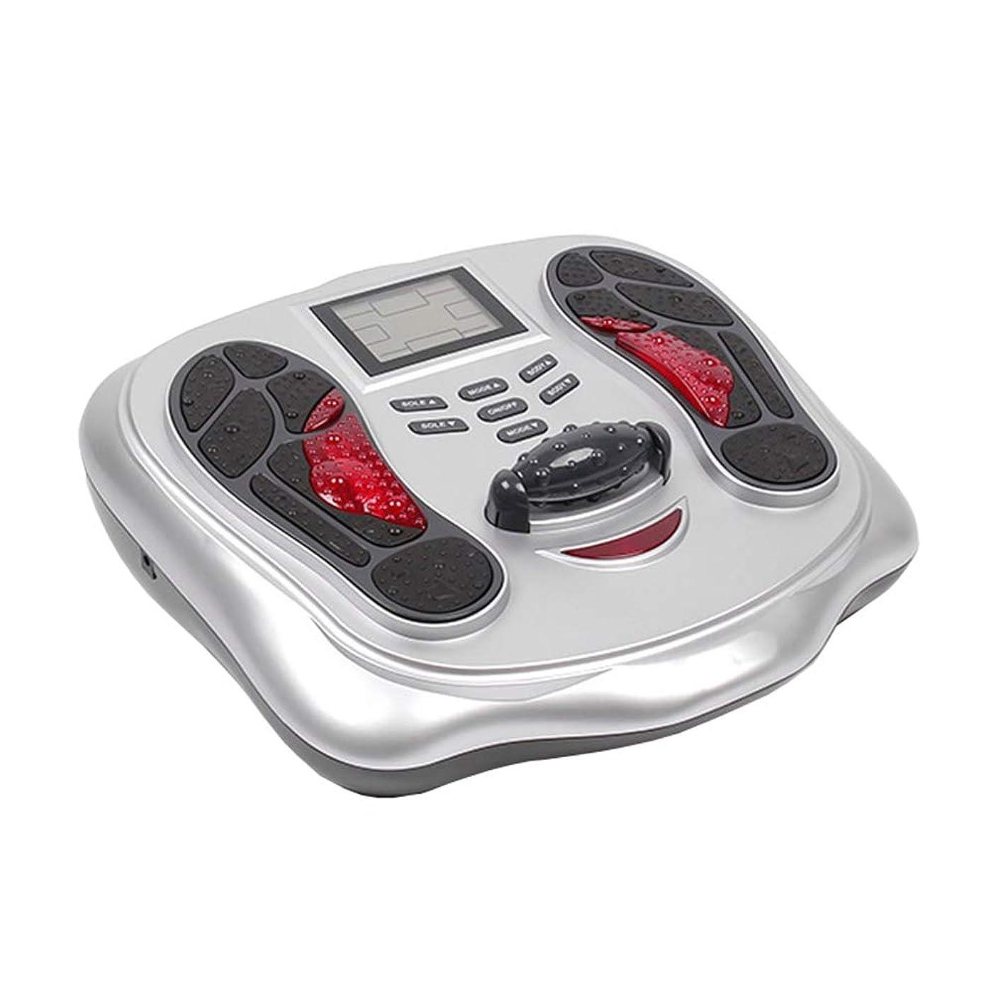 強化口工業用電気の 電気足のマッサージャーの無声脈拍のマッサージ、家のための足の痛みを和らげるためにLED表示25モード切替可能な深い混練 人間工学的デザイン, White