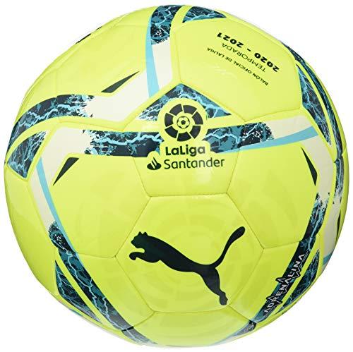 PUMA Unisex-Adult LaLiga 1 ADRENALINA MS Ball Fußball, Lemon Tonic-Multi Colour, 4