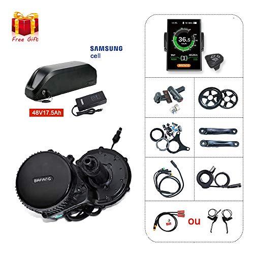 BAFANG BBS02 48V750W Kit de conversión de motor de bicicleta eléctrico con batería de...