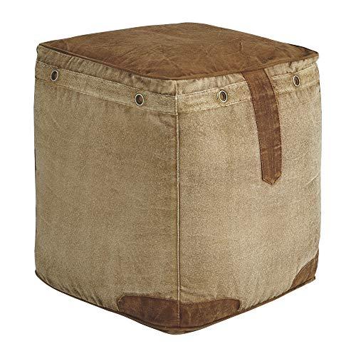 Ashley Furniture Signature Design - Cinnamon Pouf - Comfortable Footrest & Ottoman - Casual - Natural