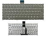 Teclado de computadora portátil Nuevo reemplazo de teclado de computadora portátil para Acer Aspire One 725756 AO725 AO756 Aspire V5-171 Travelmate B113-E B113-M Gris Ultrabook Netbook P / N: KB.I100A