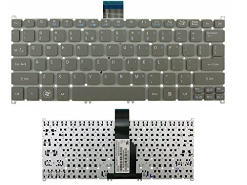 New Gray Laptop US Keyboard (Without Frame) for Acer ultrabook Aspire One 725 756 AO725 AO756 S3 S3-951 Aspire MS2346 s5 s5-391 V5-171 TravelMate B113-E B113-M Series