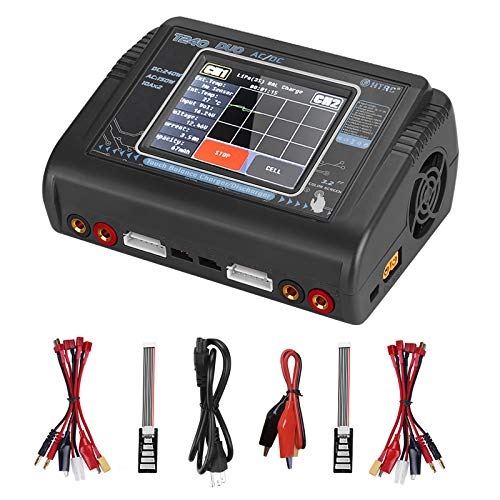 HTRC Lipo Charger 1-6S Touch Screen Dual Discharger AC150W DC240W 10A T240 Fast Balance Battery Charger for RC Li-ion Life NiCd NiMH LiHV PB Smart Battery