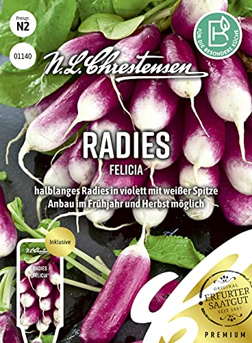 01140 N. L. Chrestensen Radieschen Samen Felicia   Frühreifend   Radieschen Saatgut   Mild und Würzig…